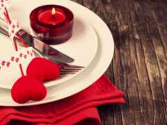dinner, candlelight, свеча
