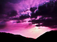 purple, закат, пост