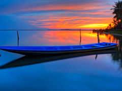 barco, сол, fondo