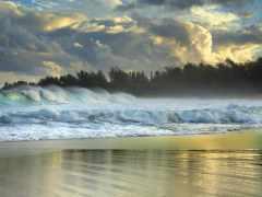 hawaii, waves, волна