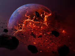 planet, dead, метеорит