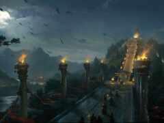 мост, арта, ночь