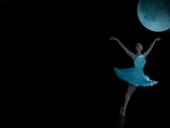 балерина, луна, dance