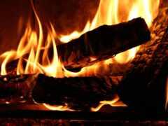 огонь, дерево, дрова