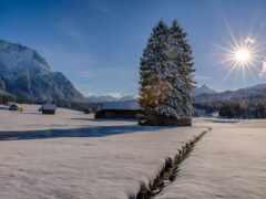 снег, winter, гора