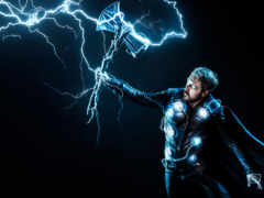 thor, lightning, хаммер