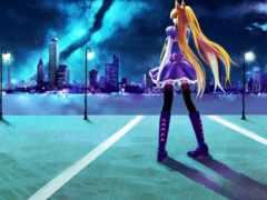anime, devushki, девушка