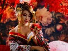 кимоно, arm, девушка