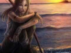 девушка, water, море