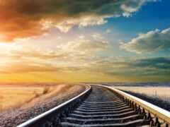 rail, postcard, небо