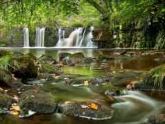 природа, landscape, водопад