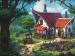 двор, домик