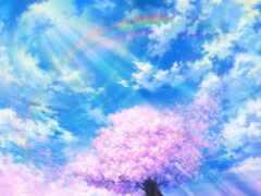 фон, красивый, небо
