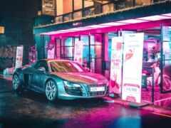 neon, car, огни