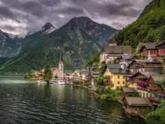 hallstatt, австрия, гора