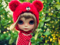 doll, red, toy