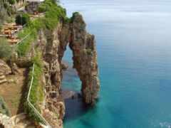 antalya, скалы, море