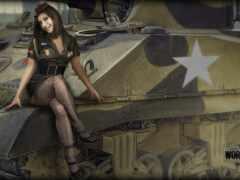 танк, девушка, wot
