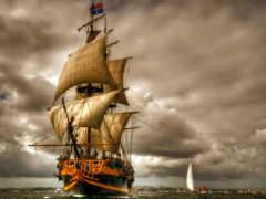 корабли, sailboat, парусники