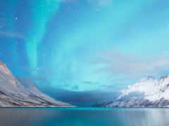 сияние, северное, горы Фон № 121561 разрешение 1920x1200