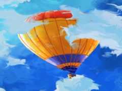 небо, воздушный шар