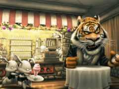 тигр, angry, cartoon