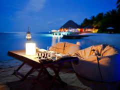 берег, море, вечер