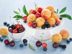 натюрморт, плод, абрикос