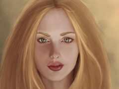 зелёный, глаз, blonde