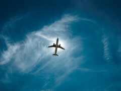 небо, plane, weed