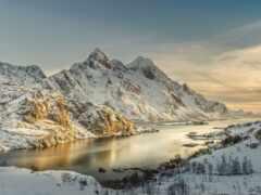 zima, fjord, studio