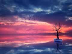 закат, landscape