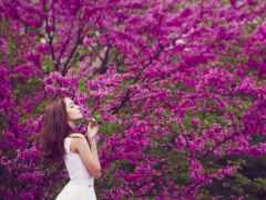 женщина, цветы, девушка