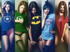devushki, супергерои, супергероев