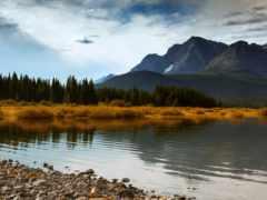 ozero, горы, берег