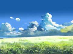 макото, синкай, облаками
