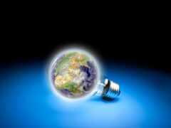 лампочка, planet, абстракция