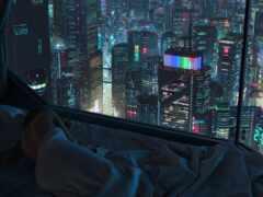 cyberpunk, город, art