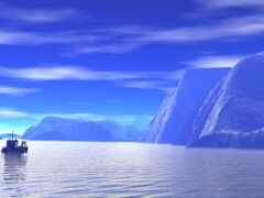 landscape, море, небо