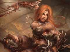 diablo, barbarian, art