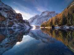winter, гора, landscape