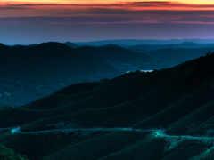 night, mountains, mountain