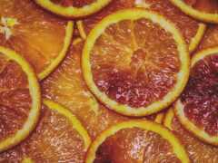 оранжевый, апельсин, дольки