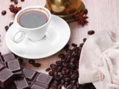 chocolate, coffee, cup