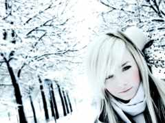 девушек, winter, блондинок