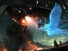 битва, огонь, дракон