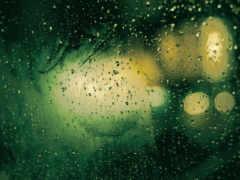 дождь, окном