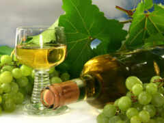 шампанское, лист, виноград