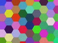 hexagon, Мозаика, colorful