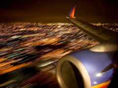 крыло, самолета, турбина
